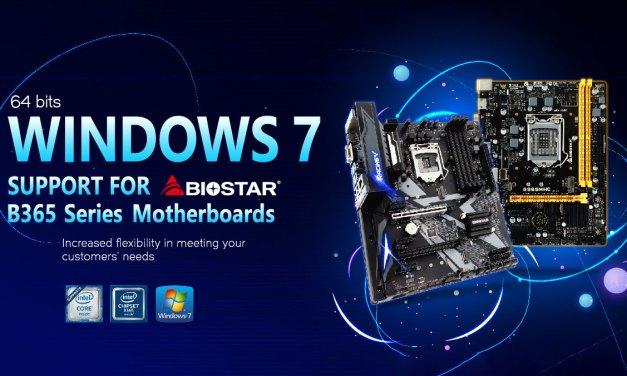 BIOSTAR Renews Windows 7x64 SP1Support for Intel B365 Boards