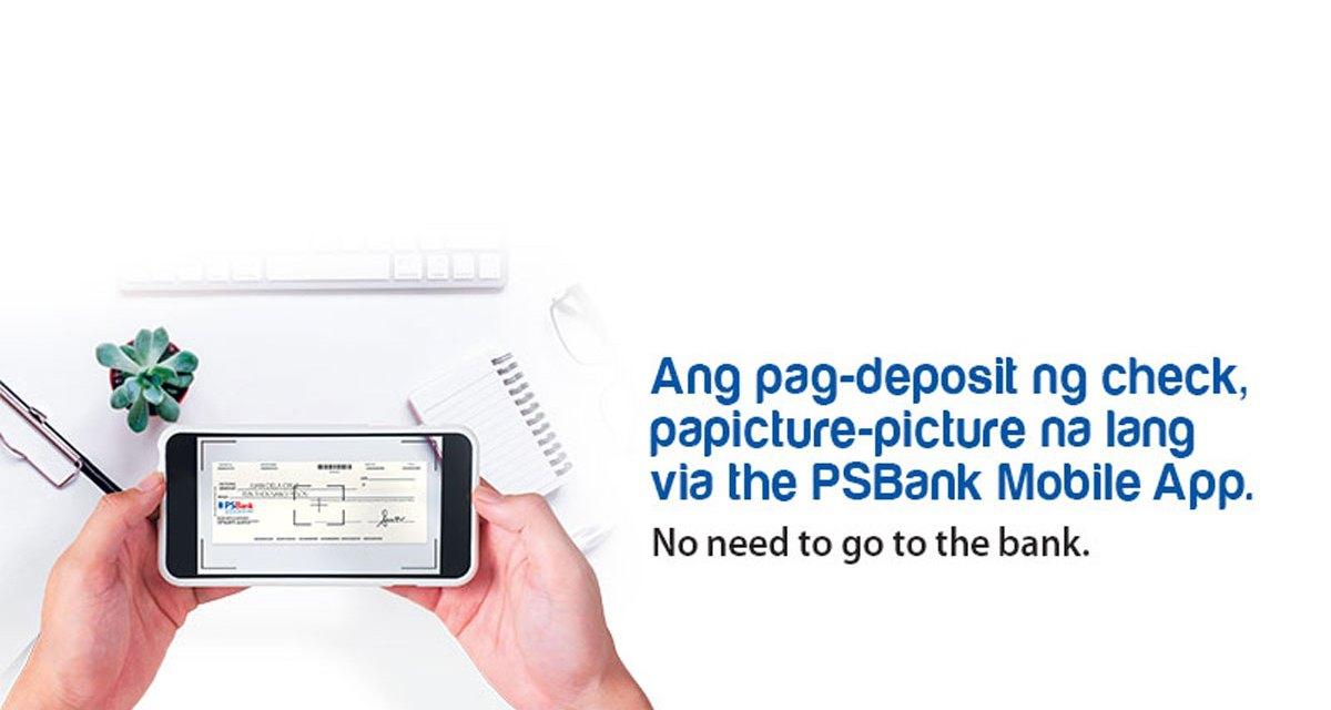 Deposit Checks by Taking a Photo Via PSBank Mobile App