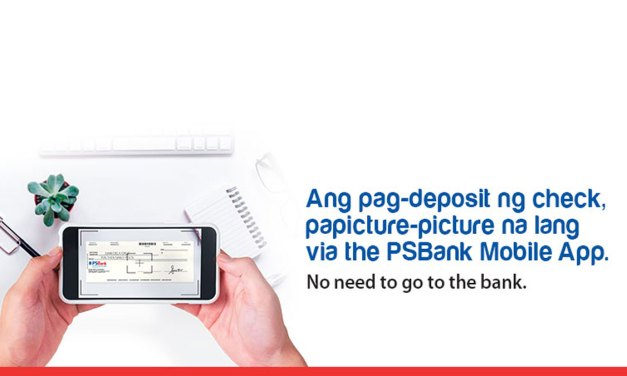 Deposit Checks by Taking a Photo Via PSBank Mobile App