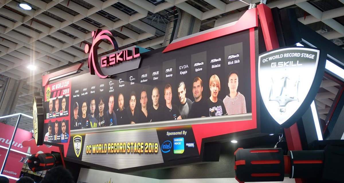 G.SKILL Achieves 13 Overclocking Records at COMPUTEX 2018
