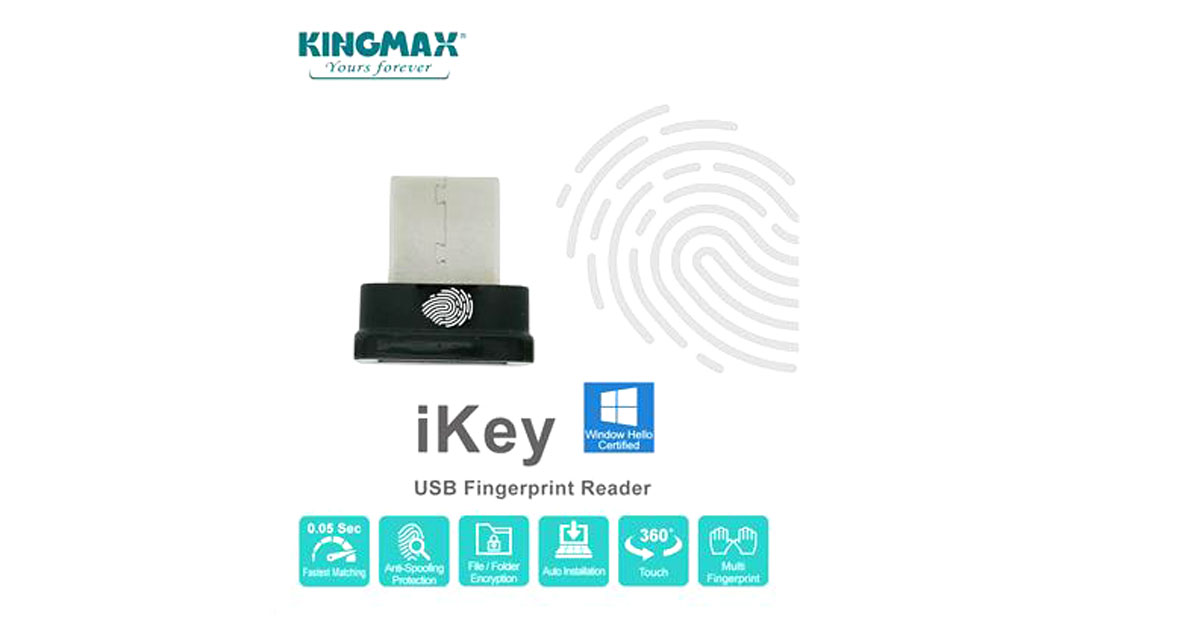 KINGMAX Outs iKey-Tiny USB Fingerprint Reader
