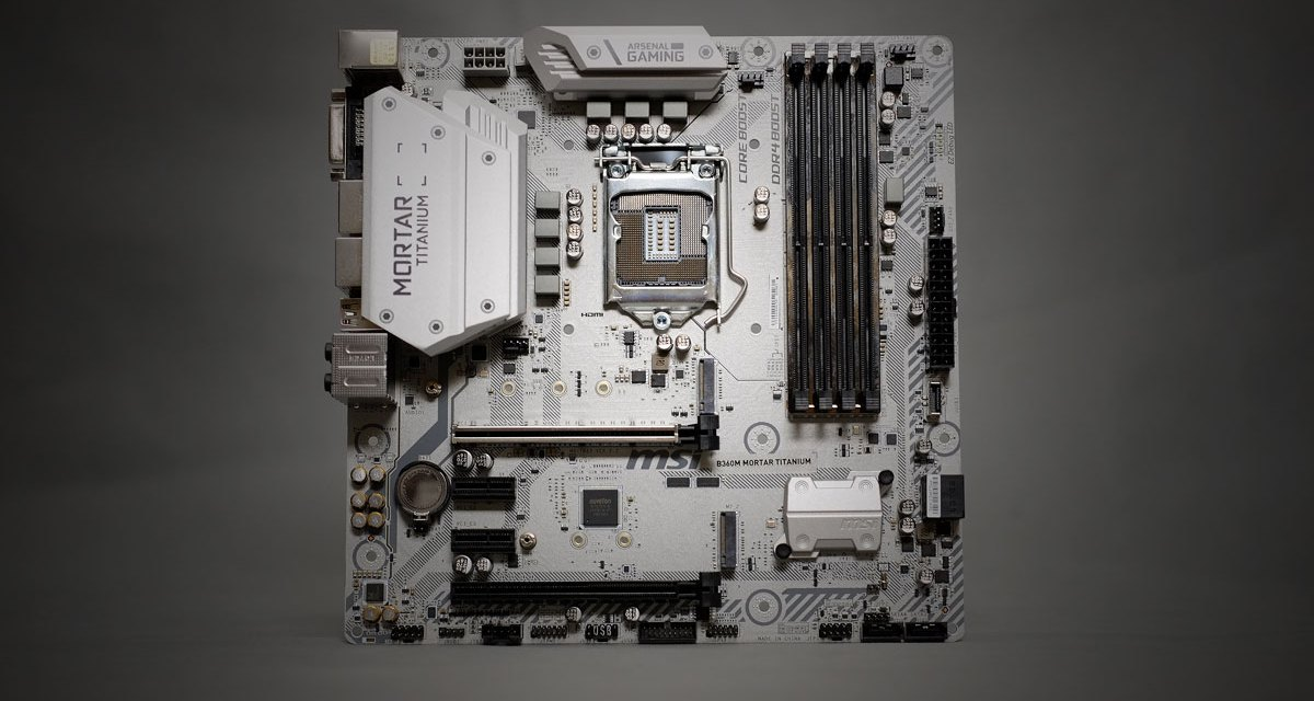 Review | MSI B360M Mortar Titanium MATX Motherboard