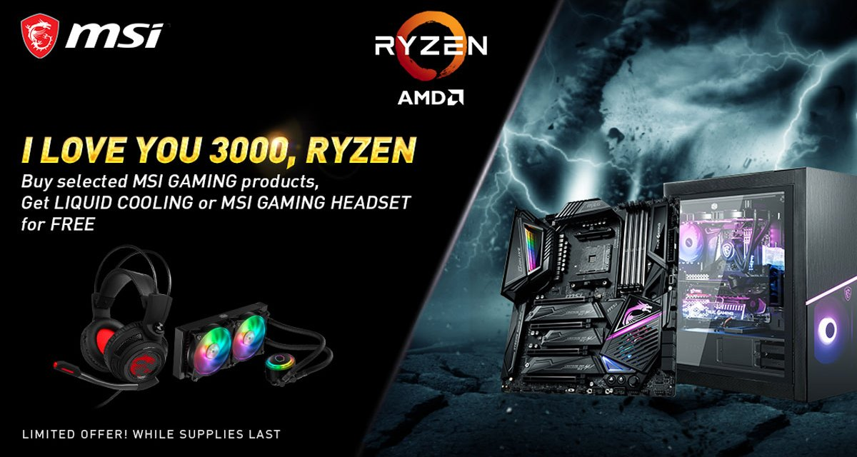 MSI Announces The I LOVE YOU 3000 RYZEN Promotion