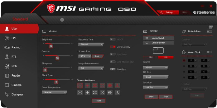 MSI Optix MPG27CQ Software (1)