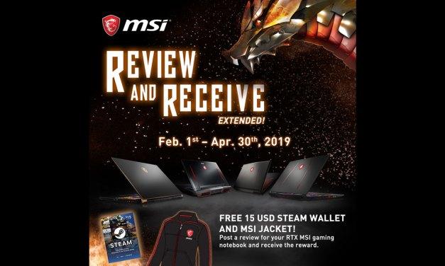 MSI Extends #ReviewAndReceive Promo Plus RTX Bundle