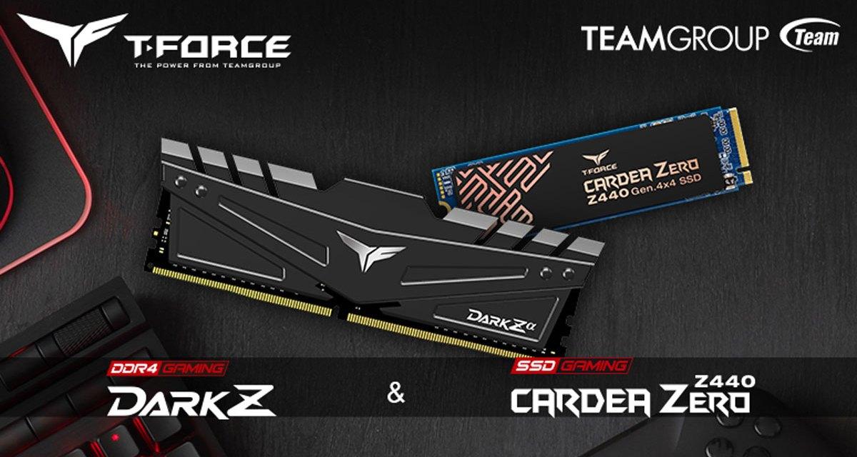 T-FORCE Releases Dark Z DDR4 and Cardea ZERO Z440 Gen4 SSD