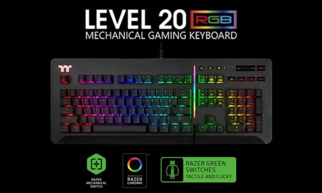 Thermaltake Unleashes Premium Level 20 RGB Gaming Keyboard
