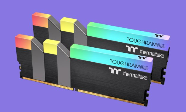Thermaltake Releases High-Frequency TOUGHRAM RGB DDR4 Memory Kits