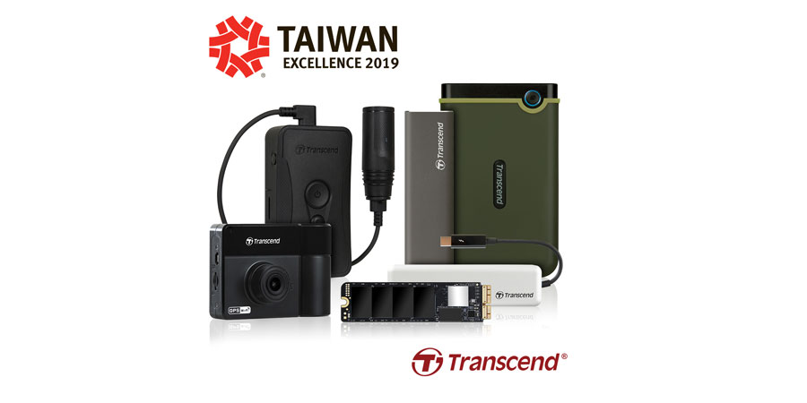 Transcend Bags Five Taiwan Excellence Awards for 2019