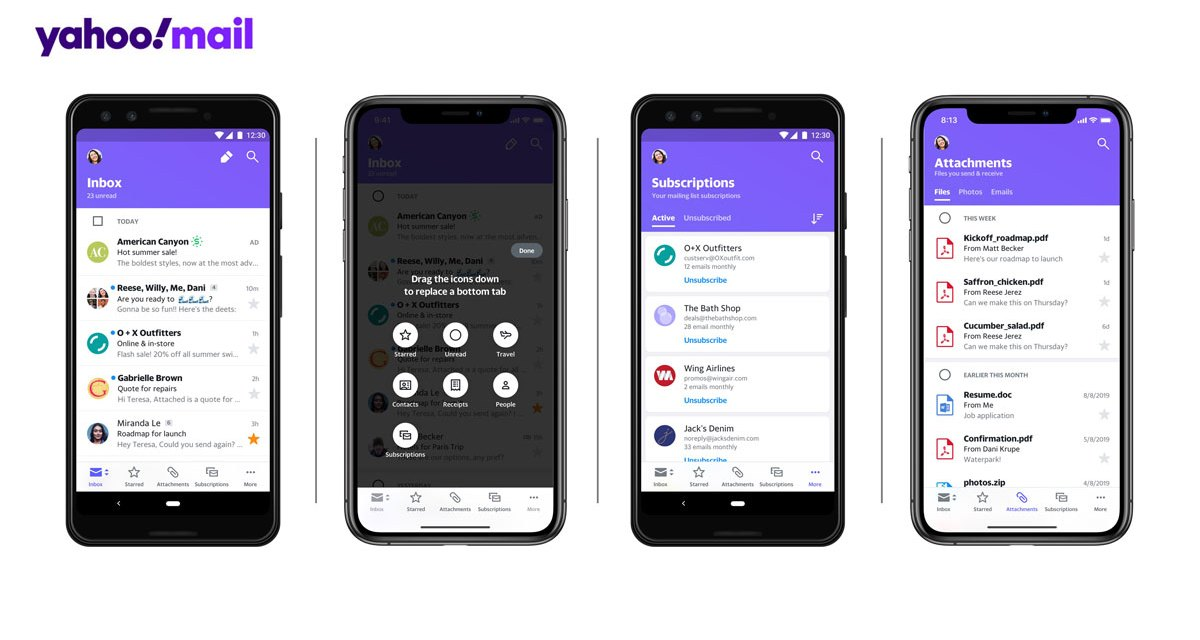 Yahoo Revamps Mobile Mail App with Clutter Free Interface
