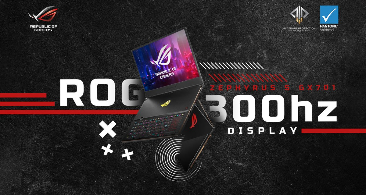 ASUS ROG Zephyrus S GX701 with 300Hz Display is Now Available