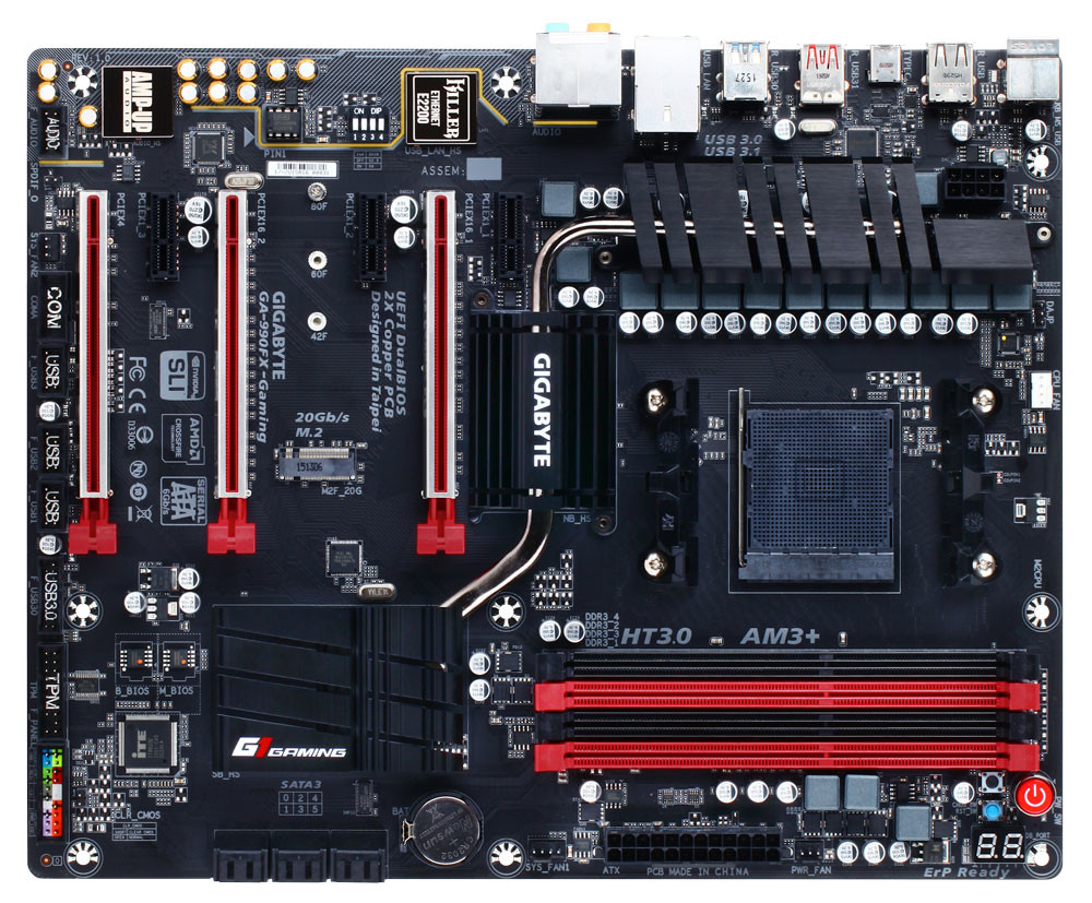 medium resolution of gigabyte unveils the 990fx gaming socket am3 motherboard