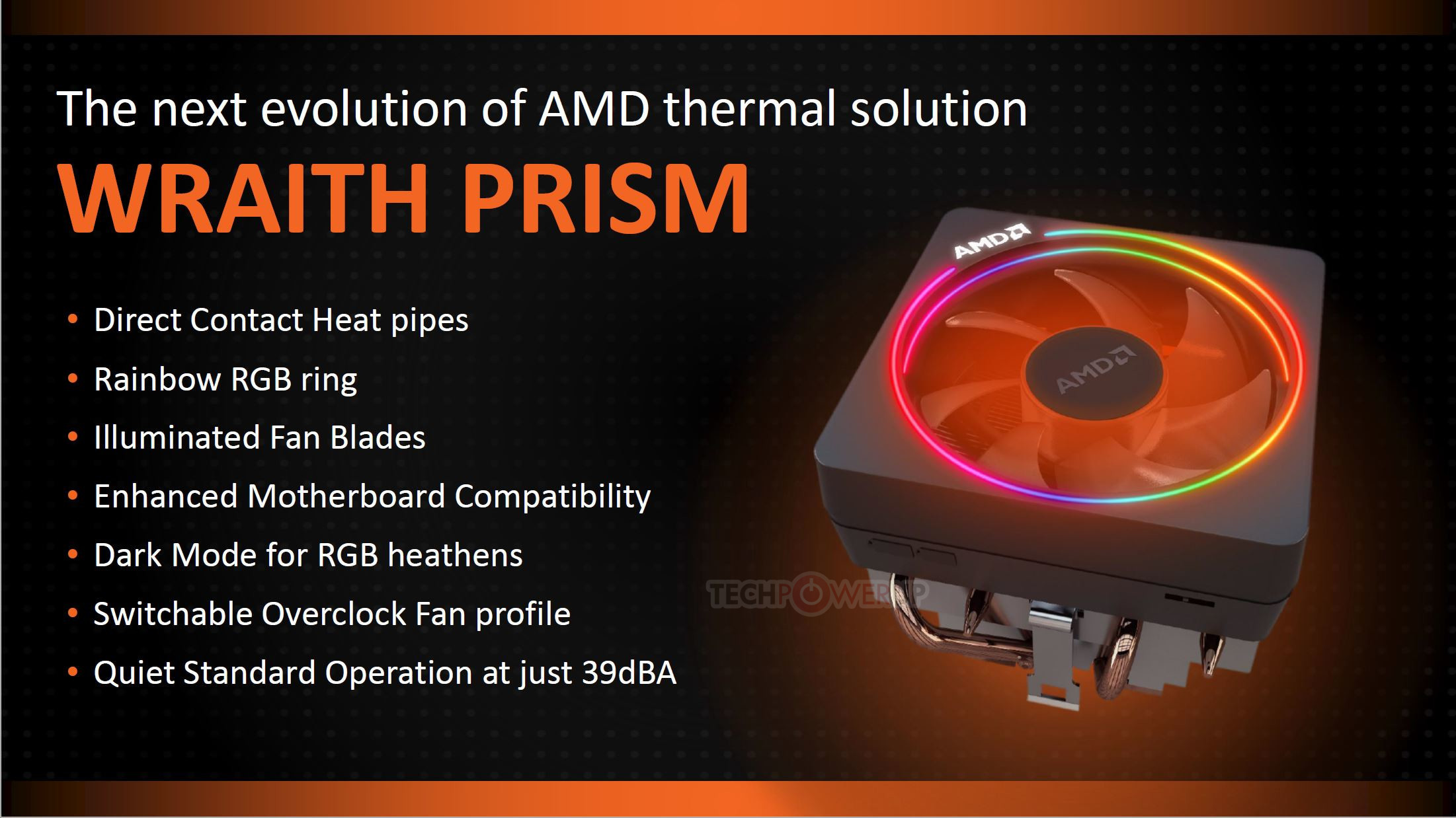 AMD Intros the Wraith Prism CPU Cooler   TechPowerUp
