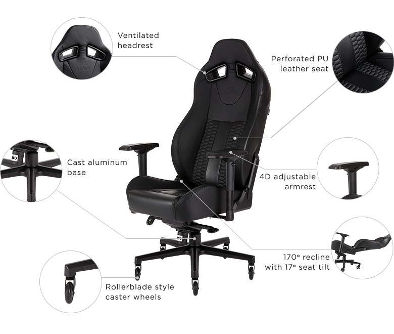 lcs gaming chair office quora corsair launches new t2 road warrior techpowerup forums the and t1 race chairs are available immediately from worldwide network of authorized retailers distributors