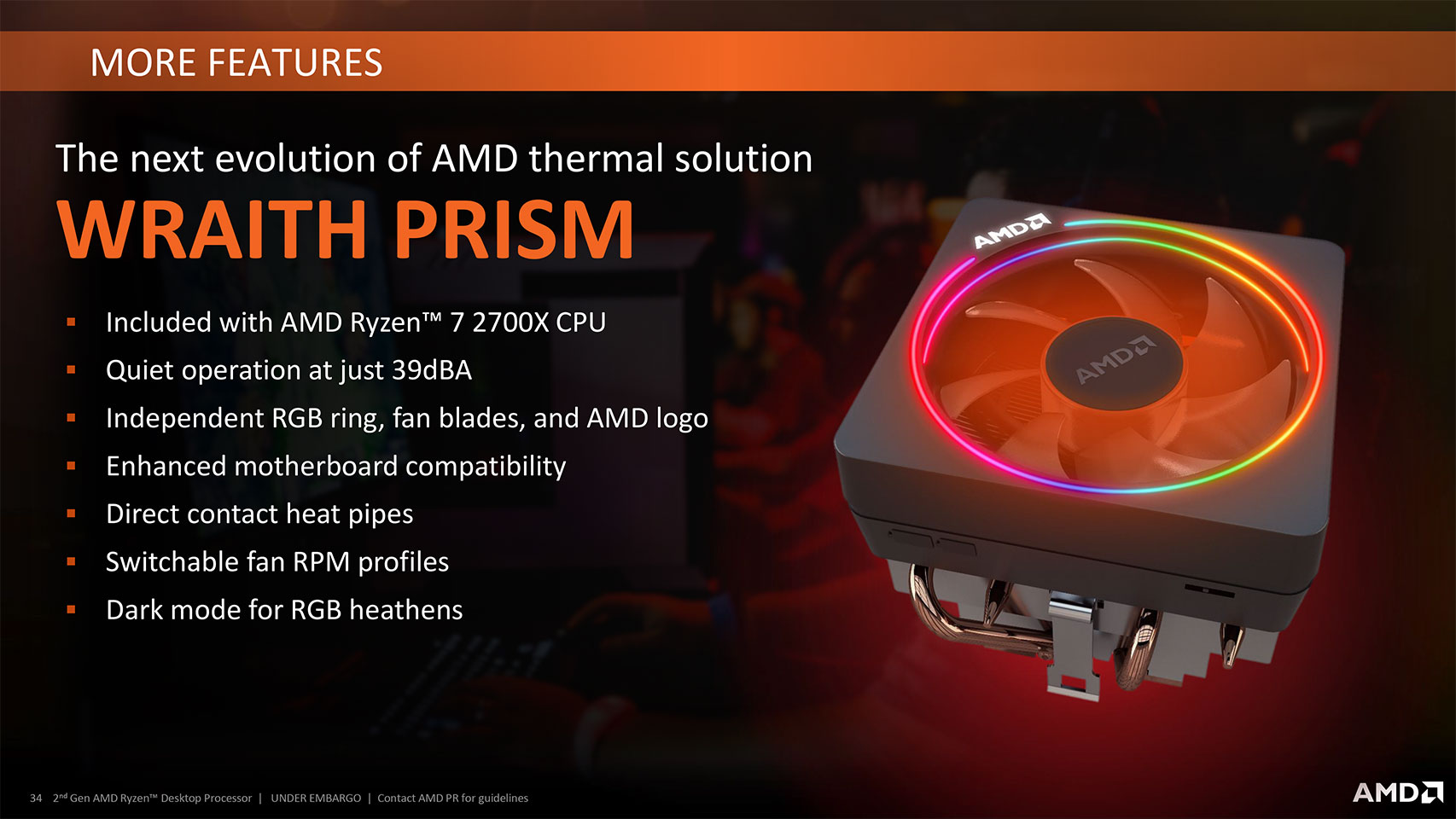 Amd Wraith Prism With Rgb Led Review Amd Wraith Prism
