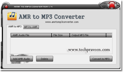 AMR to MP3 Format -AMR to MP3 Converter