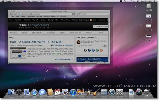 How to Take Screenshot in Mac OS X 10.5