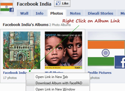 Download All Photos, Images Inside Facebook Albums Easily in Firefox
