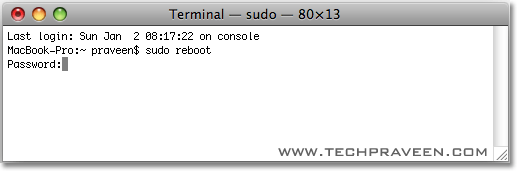 Shutdown or Restart Mac OS X from Terminal