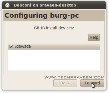 Burg installation Settings configuration