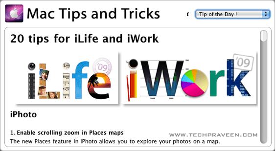 Mac Tips and Tricks - Dashboard Widget