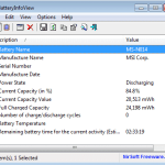 Get Laptop Battery Information with BatteryInfoView