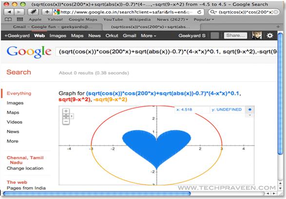 Draw Heart Shape in Google - Search Engine Fun