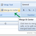Keyboard Shortcut to Merge Cells in MS Excel