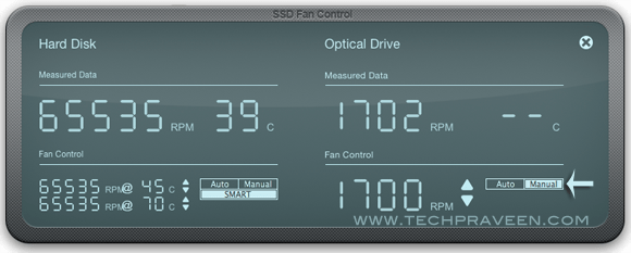 Fan Speed SSD FanControl