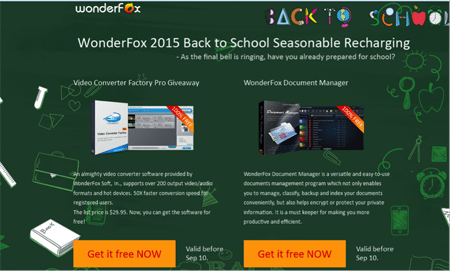 WonderFox Back to School Giveaway