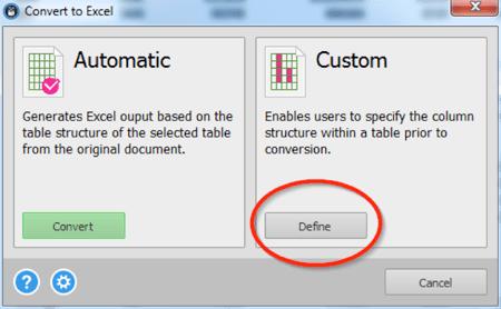 PDF Convert to Excel