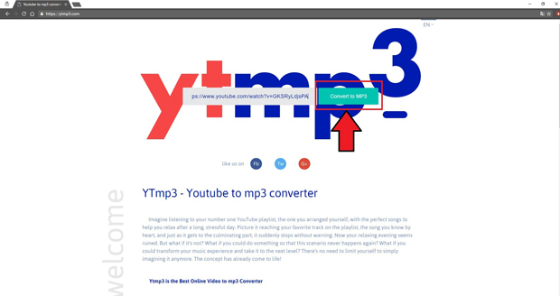 YTmp3 Youtube to Mp3 Conversion