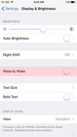 Raise to Wake iOS