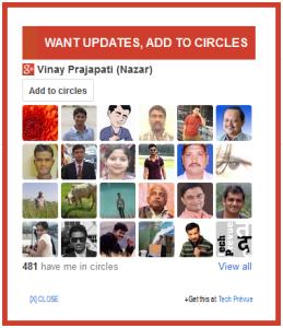 Google+ Add to Circles Widget