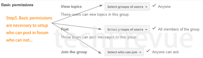 Customize and Create Google group - 2