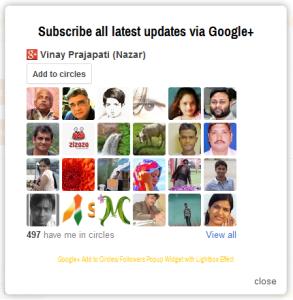 Google+ Add to Circles Popup Widget - WHITE