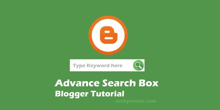 Advance Search Box for Blogger