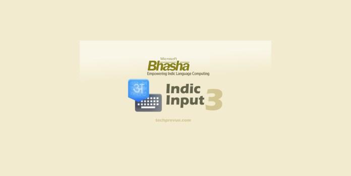 Microsoft bhasha indic input 3