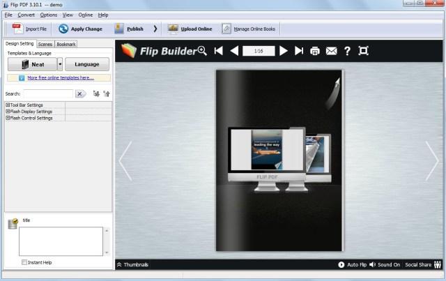 Flip PDF from PDFBuilder.com