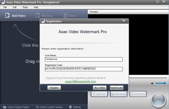 Aoao video watermark pro free license key