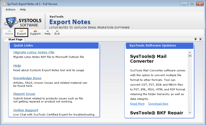 systools-export-notes-export