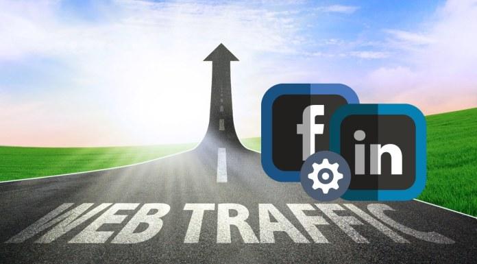 website traffic via fb and linkedin