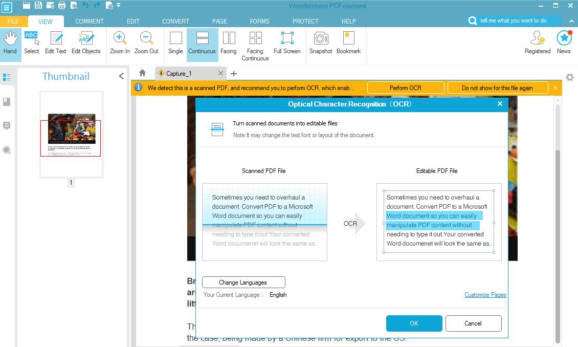 pdfelements edit text