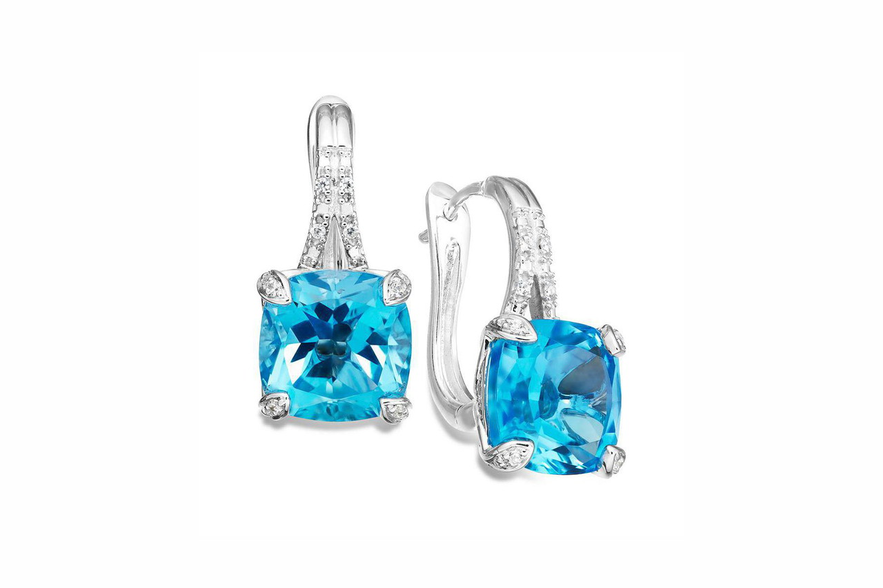 Diamond Earrings 14k White Gold