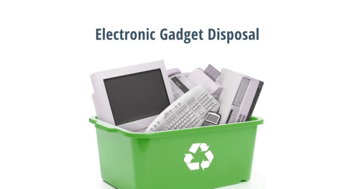 electronic gadget disposal