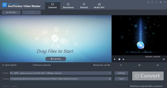 AceThinker Video Master Review Start Screen