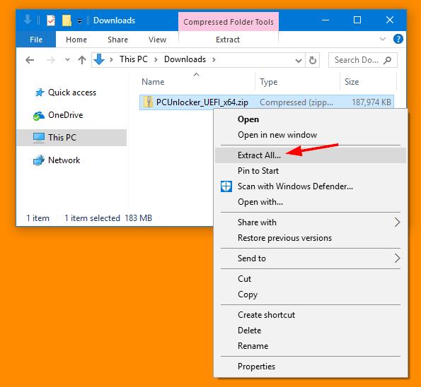 reset windows forgotten password pcunlocker