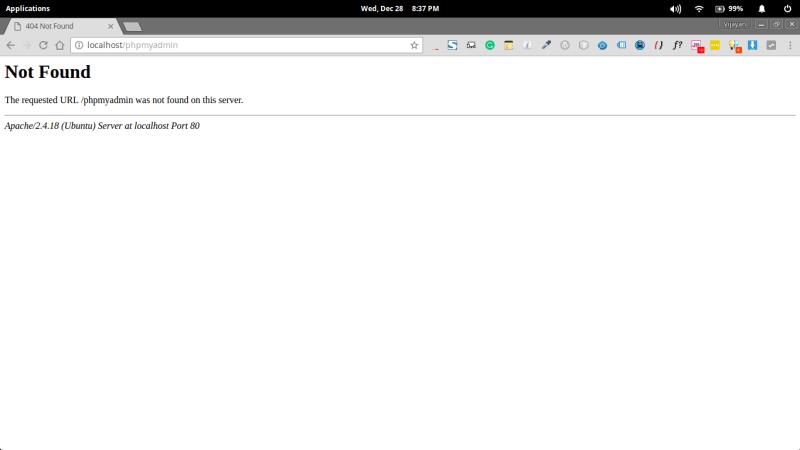phpmyadmin-not-found