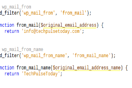 How to Change wp_mail_from and wp_mail_from_name WordPress