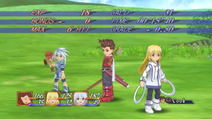 Screenshot from Tales of Symphonia published by Bandai Namco
